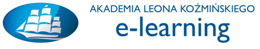 Logo Platforma e-learningowa Akademii Leona Koźmińskiego